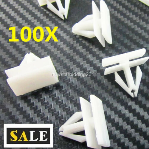 100 Rocker Panel Moulding Clips Retainer For GM Cadillac Chevy Fastener 25693852