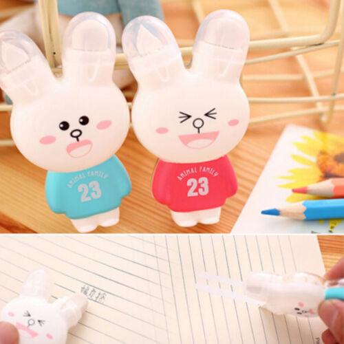 2 Stück Karikatur Kaninchen Korrekturbänder Fix mit Radiergummi