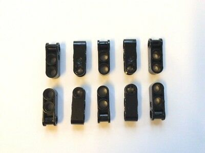 6 x NEW LEGO TECHNIC AXLE /& PIN CONNECTOR 3L WITH 2 PIN HOLES BLACK 4173970