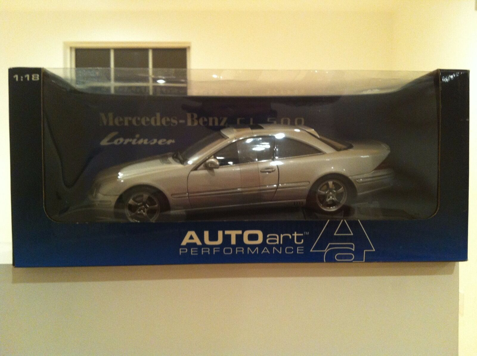 MERCEDES BENZ LORINSER CL500 RARE 1 18 NEW IN BOX BY AUTOart Models DISCONTINUED