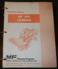 Massey Ferguson Mf 410 Combine Parts Manual Book Catalog
