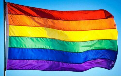 3x5 Rainbow Flag Gay Pride Lesbian Banner Striped Event Pennant LGBT Sign