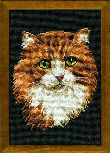 """Counted Cross Stitch Kit RIOLIS 1811 /""""Cat with Kittens/"""""""