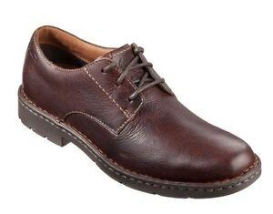 Détails sur MEN'S Clarks 1825 Collection Stratton Way Chaussures Confort en cuir marron 26102519 afficher le titre d'origine