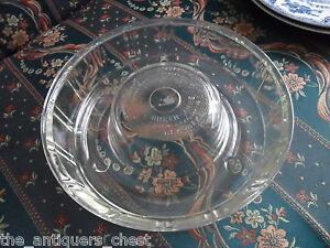 Glasbake-Clear-QUEEN-ANNE-c1942-heat-resistant-Bundt-Cake-Pan-Jello-Mold-10