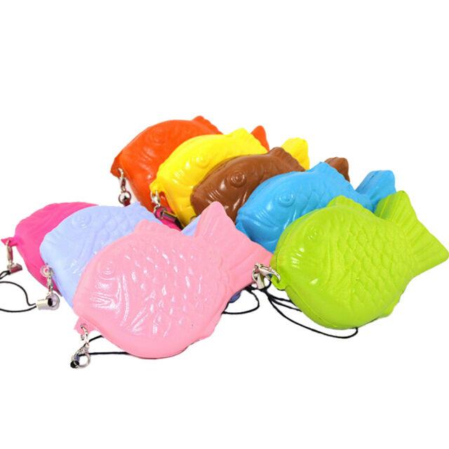 New Cute Squishy Fish Cellphone Strap Slow Rising Soft Bread Charm FF
