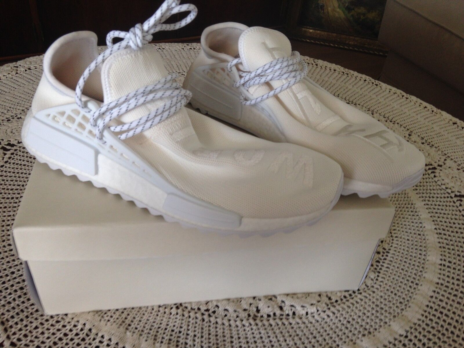 ADIDAS X Pharrell Williams HU NMD Blank Canvas UE 44 2 3 US 10.5 ac7031