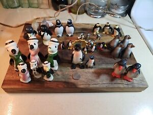LARGE LOT OF 32 Vintage Ceramic Penguin Figurines, Lot 7
