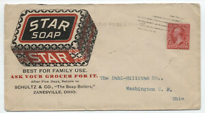 1899-Zanesville-Ohio-Star-soap-color-ad-cover-with-Hampden-machine-y4028