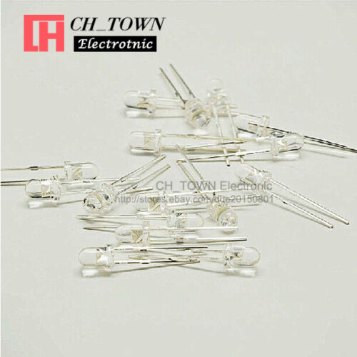 50pcs 3mm Water Clear Yellow Light Candle Flicker Flicking Blink LED Diodes USA