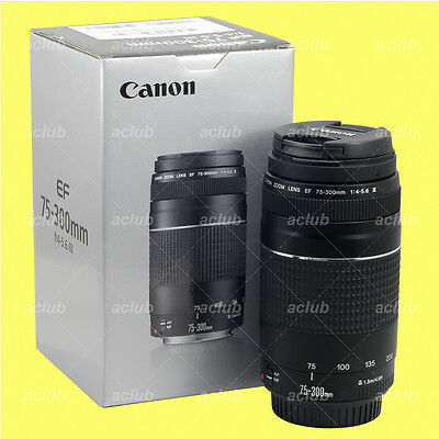 Genuine Canon EF 75-300mm f/4-5.6 III Lens