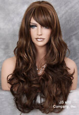 Human Hair Blend wig Heat OK Curly Layered Brown Blonde Mix Long  WTY 4/27