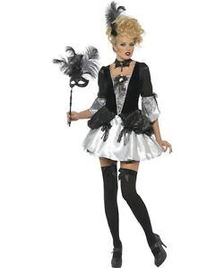 Image is loading Sexy-Halloween-Adult-Black-Gothic-Marie-Antoinette-French- 0629e833aa3