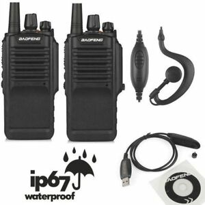 US-2x-Baofeng-BF-9700-UHF-16CH-1800mAh-Two-way-Radio-Waterproof-IP67-USB-Cable