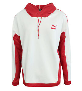 outlet store price reduced official photos Détails sur Haut femme Puma oversize à capuche Pullover Sweat-shirt rouge  blanc 573523 10 P4D- afficher le titre d'origine