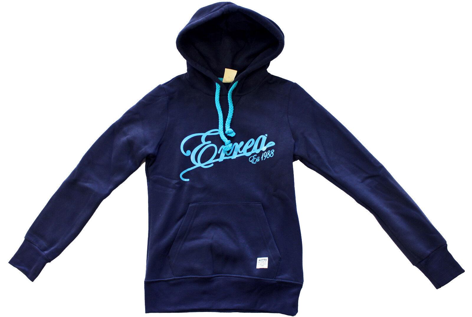 ERREA Miyako bluee junior sweatshirt hooded felpa ragazza blue con cappuccio