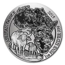 50 de ruanda plata African ounce búfalo/Kaffir Buffalo 2015 1 Oz pp