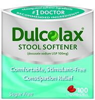 Dulcolax Stool Softener Liquid Gels 100 Liquid Gels Each