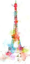 20 water slide nail transfer decals colorful effiel tower  3/8 inch trending