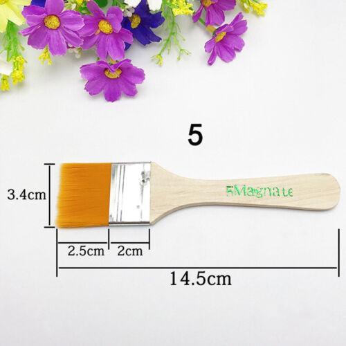 12pcs Flat Hair Painting Brush Set Artist Arts Paint Acrylic Oil Drawing Tools .