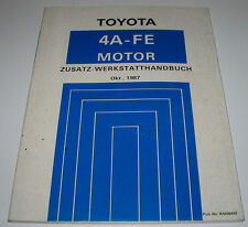 Werkstatthandbuch Toyota Motor 4A-FE Corolla 4WD Allrad Stand Oktober 1987!