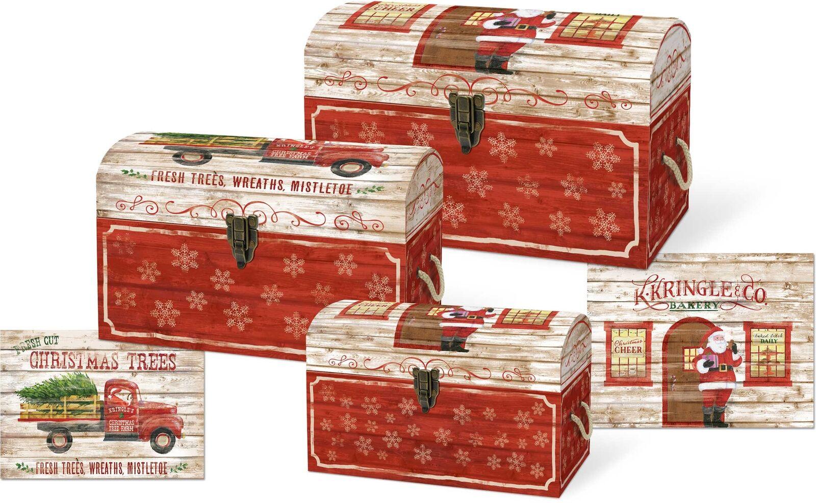 Punch Studio H8 Weihnachten Nisten Schatz Kisten - Oh Was Spaß 45397N