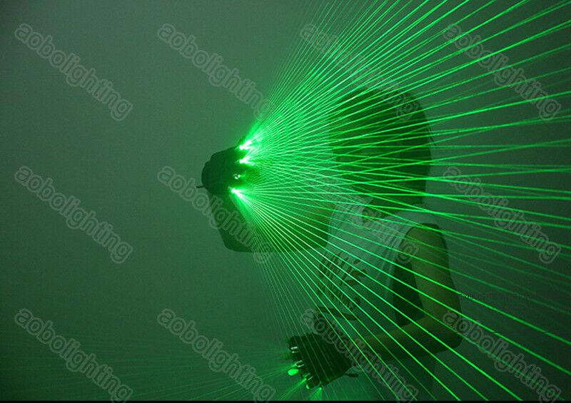 Details About Dj Club Green Laser Gloves 140 Multi Beam Dancing Glove Rave Light Show