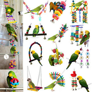Pet-Swing-Bird-Toy-Parrot-Rope-Harness-Cage-Hang-Toys-Parakeet-Cockatiel-Budgie