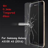 Genuine Tempered Glass Screen Protector Film For Samsung Galaxy A3100 A3 (2016)