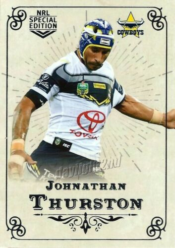 ✺Mint✺ 2018 NORTH QUEENSLAND COWBOYS NRL Card JOHNATHAN THURSTON Glory