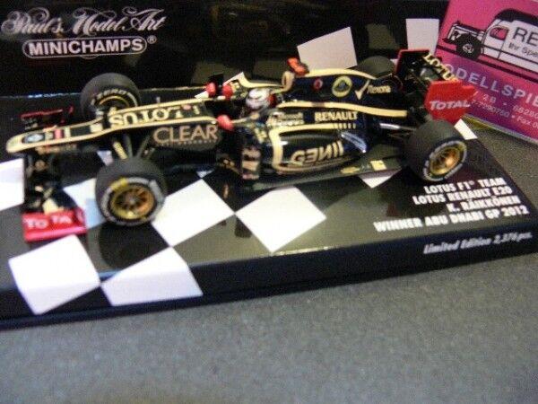 ahorre 60% de descuento 1 43 Minichamps Lotus Renault Renault Renault e20 K. raikkonen winner gp abu dhabi 2012  Todos los productos obtienen hasta un 34% de descuento.