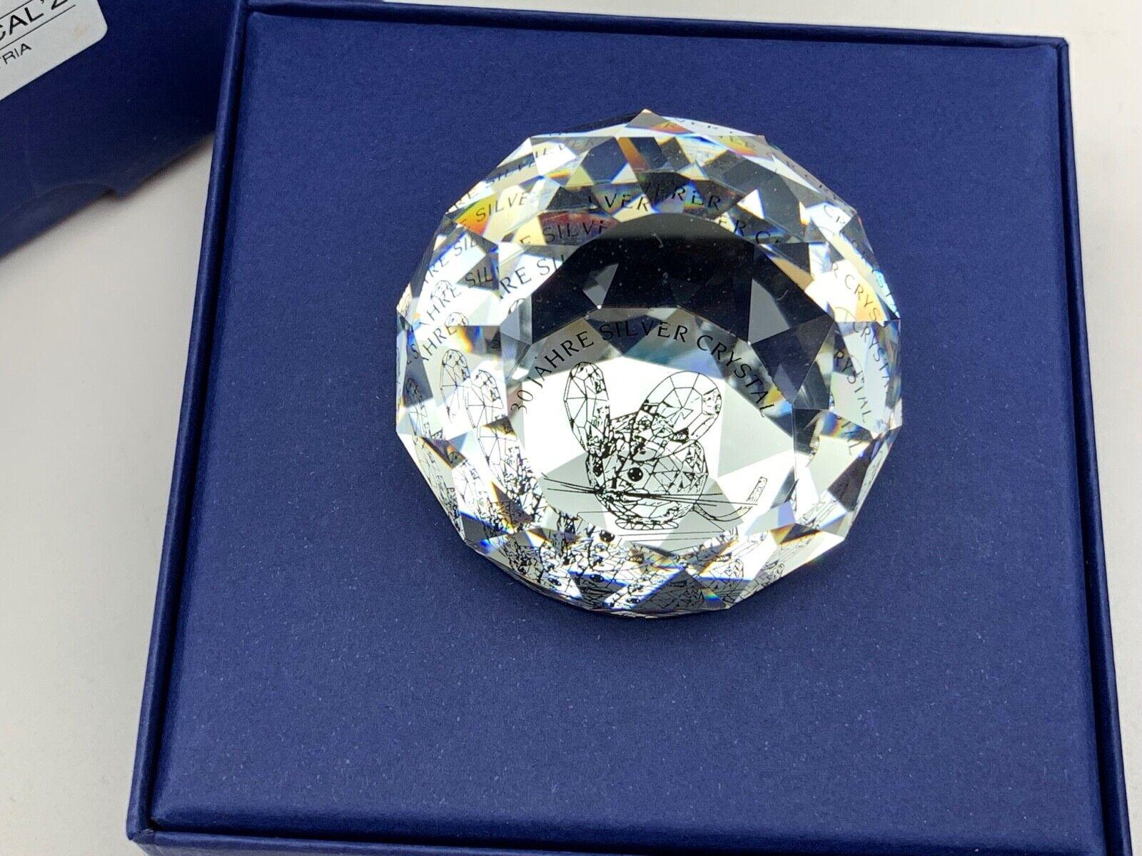 Swarovski personaje pisapapeles 30 años plata Crystal 5 cm Ø. impecable