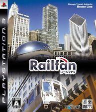 FREE SHIP USED Railfan PS3 Playstation3 Import Japan