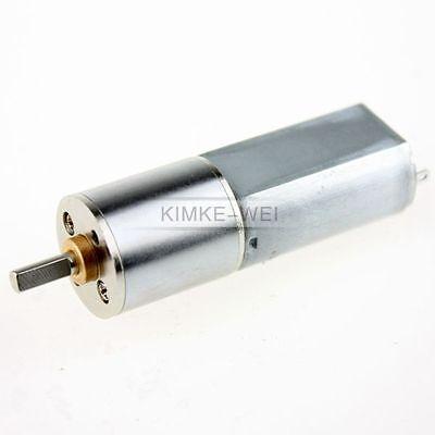 16mm 12V 15RPM Torque Gear Box Motor New