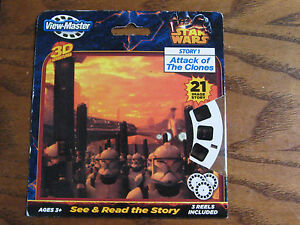 View-Master Star Wars Story 1 Attack of The Clones 3 Reel Pack Sealed 2046