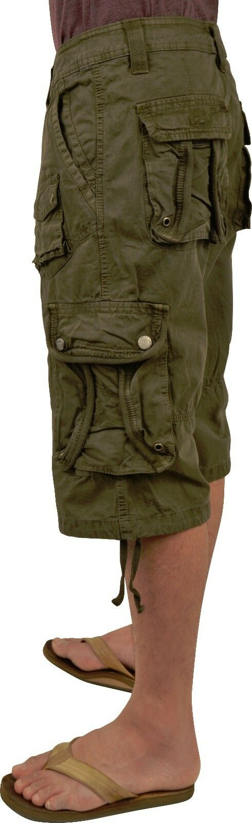 BN  MENS sizes 30-54  SOLID COLOR CARGO SHORTS S