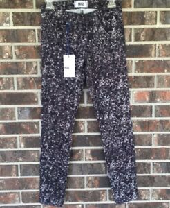 Paige Pants Denim 25 Zinc Black Paillettes Taglia qHAzxU