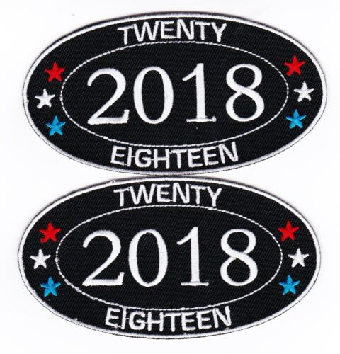 2018 SEW//IRON ON PATCH EMBROIDERED BADGE EMBLEM BIRTHDAY GRADUATION YEAR DATE
