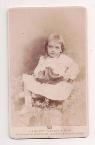 Vintage-CDV-Unknown-Victaorian-Child-Lambert-Weston-amp-son-Photo