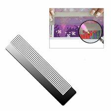 Essencedelight Diamond Painting Net Ruler Mold Stainless Steel Ruler Point Drill Ruler Cross Stitch Tool,银色13厘米