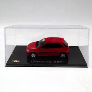 IXO-ALTAYA-1-43-Chevrolet-Celta-1-0-2000-Diecast-modelos-de-Juguete-Coleccion-Rojo