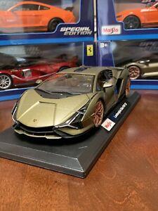 Maisto-Special-Edition-1-18-escala-de-fundicion-vehiculo-Lamborghini-Sian-FKP-37