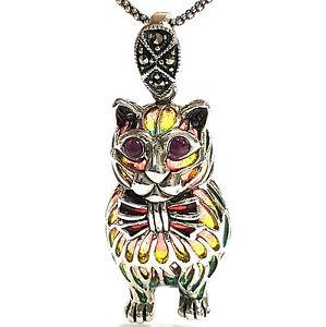 Art Nouveau Cat S Eye Necklace