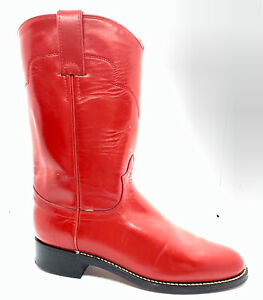 NWOB Tony Lama Red Leather Roper Cowboy Boots Womens Size 5.5  Style 7500L
