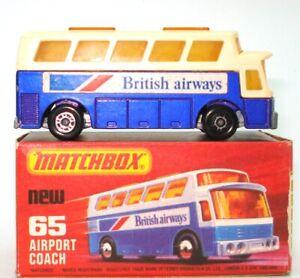 Lesney-Matchbox-N-65-BA-aeropuerto-entrenador-a-menta-y-encajonado