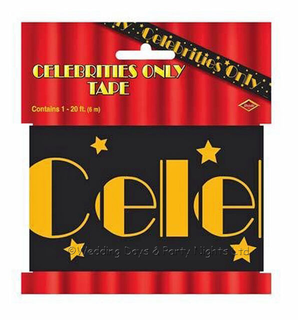 20ft Celebrities Only Tape Hollywood Decoration VIP Prom Birthday Party Banner