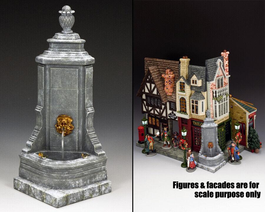 King & Land Welt Of Dickens WOD018 die Weihnachten Ecke Brunnen MIB