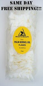 PALM KERNEL OIL FLAKES ORGANIC by H&B Oils Center FOR SOAPS COSMETICS 8 OZ