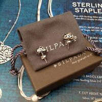 Silpada ahead Of The Curve Round Dome Sterling Silver Post Earrings P3128