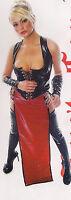 The Federation Rubber Latex Long Gladiator Skirt Brand Cross Dress